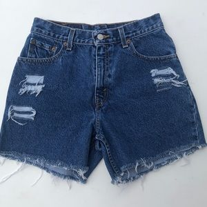 Levi's cutoff distressed high waisted  jean shorts